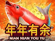 Играть в автомат Nian Nian You Yu от Playtech с выигрышем х10 000